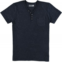 61.3103-110  T-Shirt V-Neck Buttoncollar navy