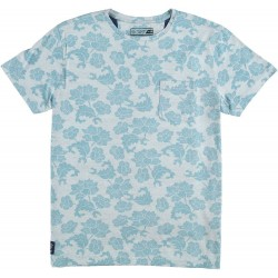 61.3105-110  T-Shirt Crewneck Flower Print navy