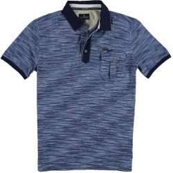 61.3612-110  Poloshirt Ministripes Pocket navy