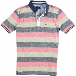 61.3622-185  Poloshirt Single Jersey Stripes red