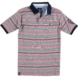 61.3626-185  Poloshirt Classic Stripes red