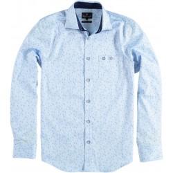 71.6513-117  Shirt L/S Soft Poplin Fantasy Print light blue