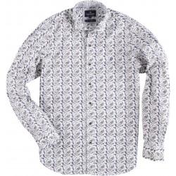 71.6542-104  Shirt L/S Paisley Design white