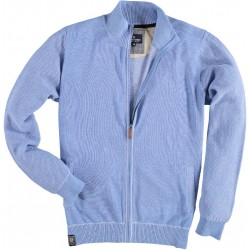 71.1101-114  Cardigan Contrast Stitched mid blue