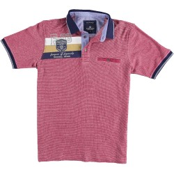 71.3613-185  Poloshirt Soft Pique Badge red