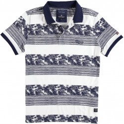 71.3644-110  Poloshirt Jersey Fantasy Stripes navy