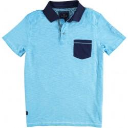71.3621-135  Poloshirt Sandblasted festival turquoise