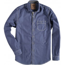 72.6526-110  Shirt L/S Solid Mini Design navy