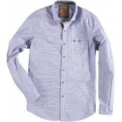 72.6527-112  Shirt L/S Tone in Tone Circles blue