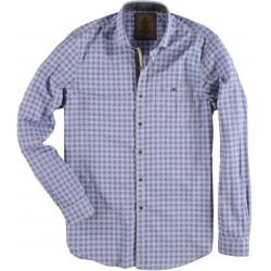 72.6529-115  Shirt L/S Classic Check Design mid blue