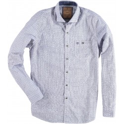 72.6536-115  Shirt L/S Fantasy Print mid blue