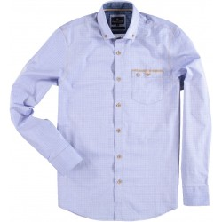 72.6555-114  Shirt L/S Mini Print mid blue