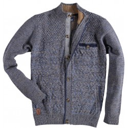 72.1112-110  Cardigan Zipper / Buttons navy