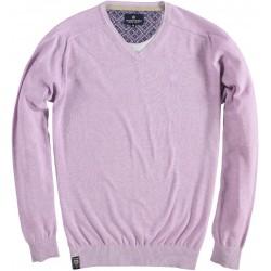 81.1100-197  Pullover V-neck Melange lilac