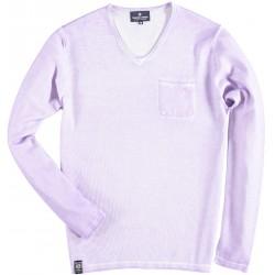 81.1109-197  Pullover V-Neck Washed lilac