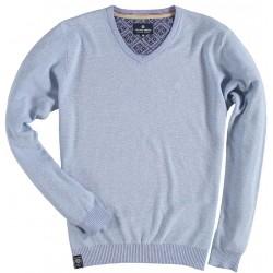 81.1126-115  Pullover V-Neck mid blue