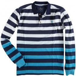 81.2101-110  Rugby striped slubyarn summer navy