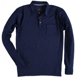 81.2609-110  Poloshirt L/S Denim Look navy