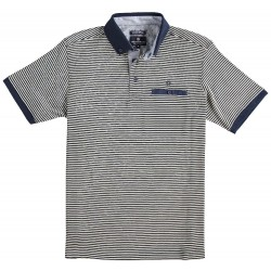 81.3609-110  Poloshirt Mercerised Stripes navy