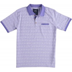 81.3621-191  Poloshirt Classic Diamond Motive royal purple