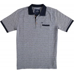 81.3622-110  Poloshirt mercerised Pyramids navy