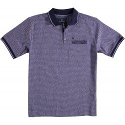 81.3626-197  Poloshirt Mercericed Diamonds lilac
