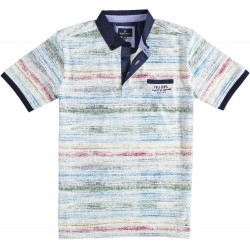 81.3645-185  Poloshirt Rainbow Print red