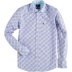 94852f6b7d15 81.6532-114 Shirt L/S 3D Blocks & Circles mid blue