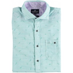 81.6601-178  Shirt S/S fish and fun light green