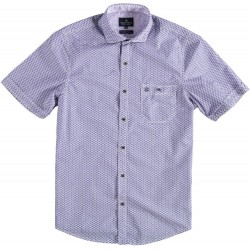 81.6605-191  Shirt S/S Geometric Print royal purple