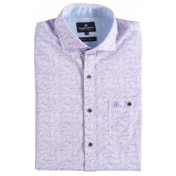 81.6606-197  Shirt S/S waves of yarn lilac