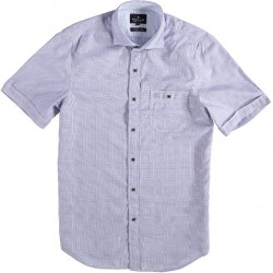 81.6616-191  Shirt S/S Woven Checked royal purple