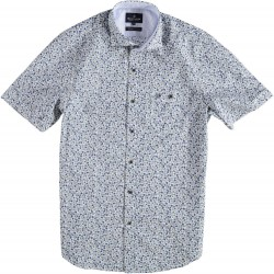 81.6626-110  Shirt S/S Seaflowers navy