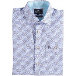 81.6632-114  Shirt S/S 3D Blocks & Circles mid blue