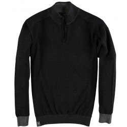 82.1102-120  Pullover Skipper Collar Zipper black