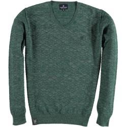 82.1106-172  Pullover V-Neck Fancy Melange dark green