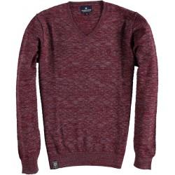 82.1106-185  Pullover V-Neck Fancy Melange red
