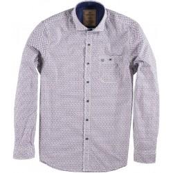 82.6501-192  Shirt L/S Mini Print Design velver purple