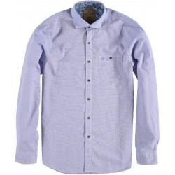 82.6535-119  Shirt L/S Mini Print Motive light blue