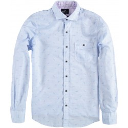 81.6501-119  Shirt L/S Fish and Fun light blue