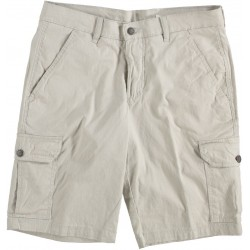 81.5606-149  Short with pockets plain wrinkled light beige