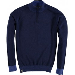 82.1102-110  Pullover Skipper Collar Zipper navy