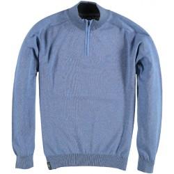 82.1102-115  Pullover Skipper Collar Zipper mid blue