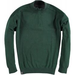 82.1102-172  Pullover Skipper Collar Zipper dark green