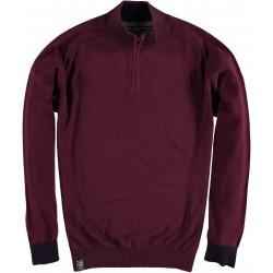 82.1102-185  Pullover Skipper Collar Zipper red