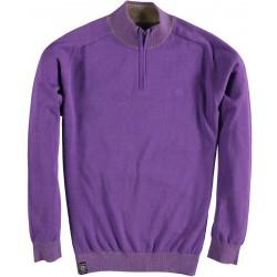 82.1102-192  Pullover Skipper Collar Zipper velver purple