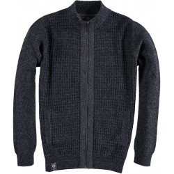 82.1130-120  Cardigan Square Knit Design black