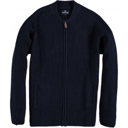82.1133-110  Cardigan Heavy Knit Crew Neck navy