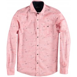 91.6500-185  Shirt L/S Flying Birds Print red