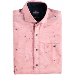 91.6600-185  Shirt S/S Flying Birds Print red
